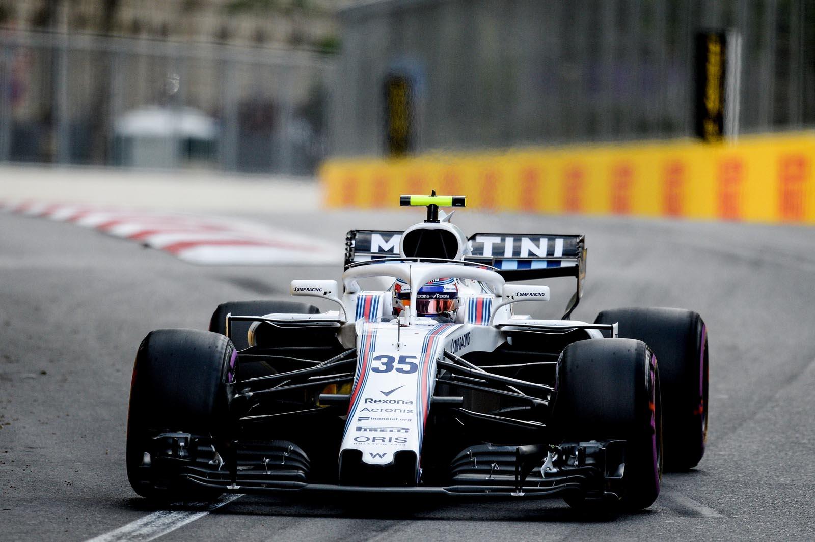 Sergey Sirotkin. Formula 1 Azerbaijan Grand Prix. 2018