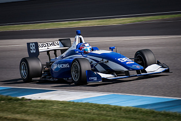 Egor Orudzhev took part in Indy Lights tests