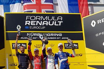 Alexander Smolyar earned the bronze medal of the first Formula Renault Eurocup race in Germany