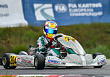 Nikita Bedrin finished third at the European Karting Championship