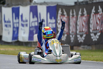 Nikita Bedrin and Kirill Smal in the top three in the go-kart tournament WSK Open Cup