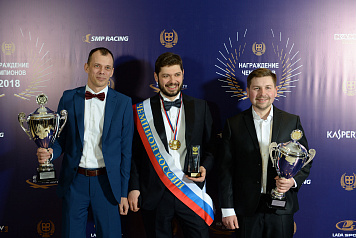 Winners of the SMP Russian Drag Racing Championship received awards