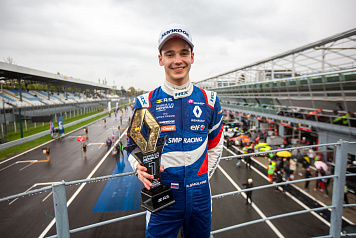 SMP Racing driver Alexander Smolyar won the second race of the Formula Renault Eurocup first round