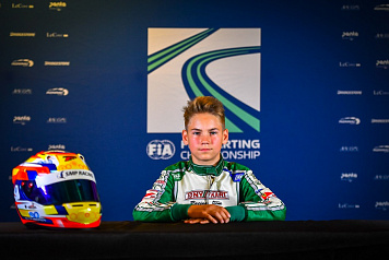 Nikita Bedrin won the bronze medal of the WSK Euro Series karting championship