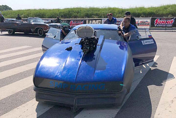 Dmitry Samorukov took part in the second round of the European Drag Racing Championship