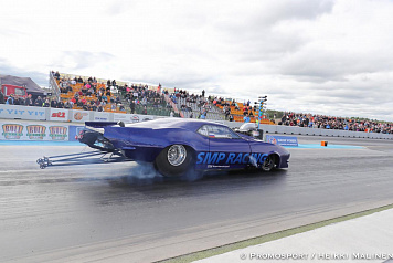 Dmitry Samorukov took part in the third round of the European Drag Racing Championship