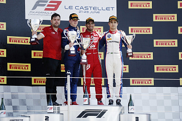 Robert Shwartzman wins the silver medal of FIA F3 Race 1 in France