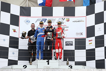 SMP Racing driver Michael Belov earned the silver medal in the Italian F4 race at Hungaroring