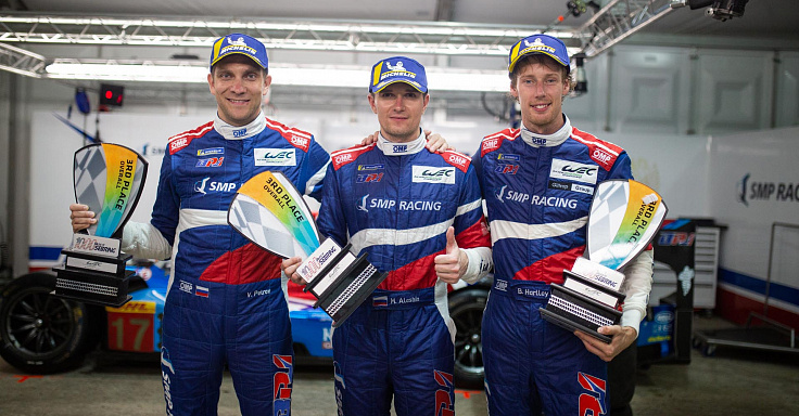 SMP Racing celebrates third-place finish on the podium in Sebring